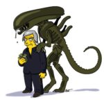 H.R. Giger Simpsonized
