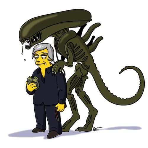 H.R. Giger Simpsonized