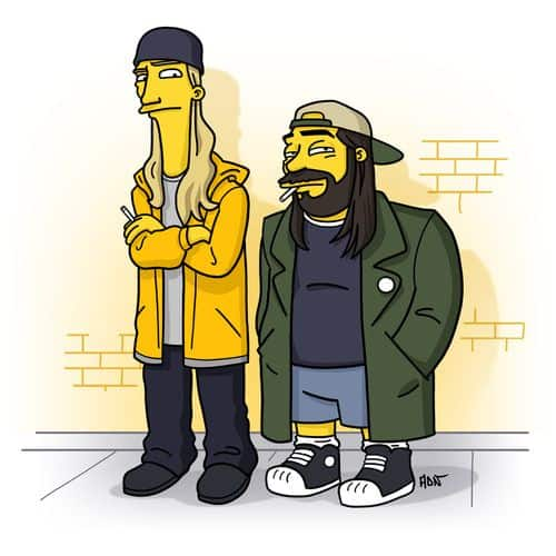 Jay & Silent Bob Simpsonized