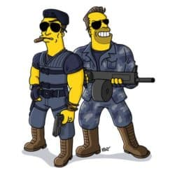 Expendables Simpsonized