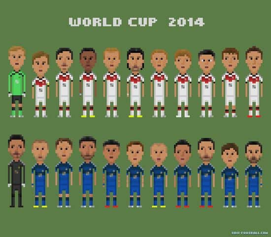 The teams in the World Cup final: Germany vs Argentina