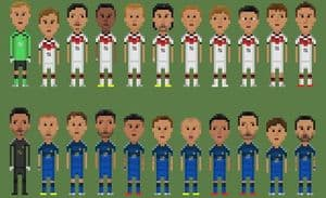 Weltmeisterschafts-Endspiel in 8-Bit