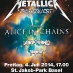 Metallica Sonisphere Basel Running Order