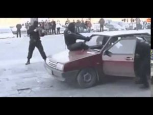 Russische Verkehrskontrolle
