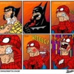 As superheroes shave