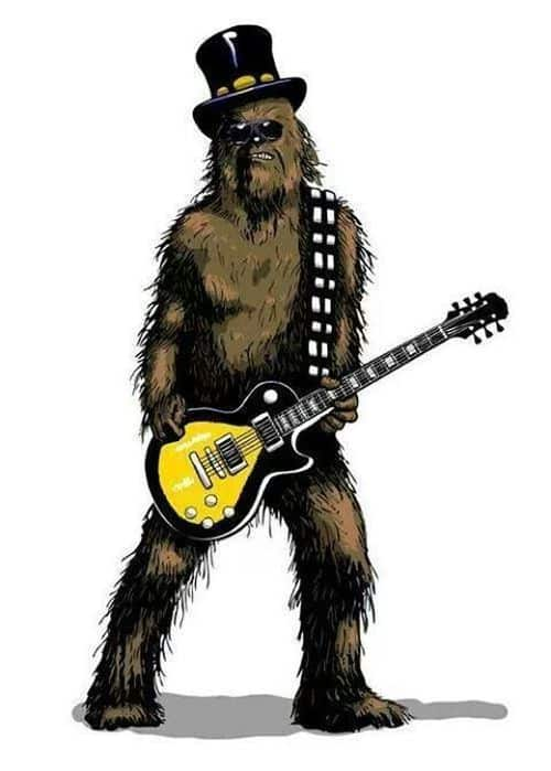 Chewbacca Rock Star