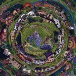 Gánovce del als kaleidoskopiertes Dorf