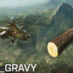 Nur em Battlefield 4: Fora do céu com um helicóptero tronco de árvore