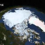 Arctic ice melt in fast motion
