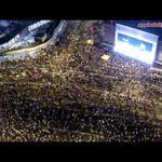 Hong Kong'un demokrasi yanlısı protestoların Hava fotoğrafları