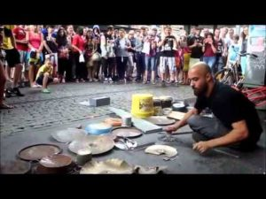 Fantastic Street Techno Drummer