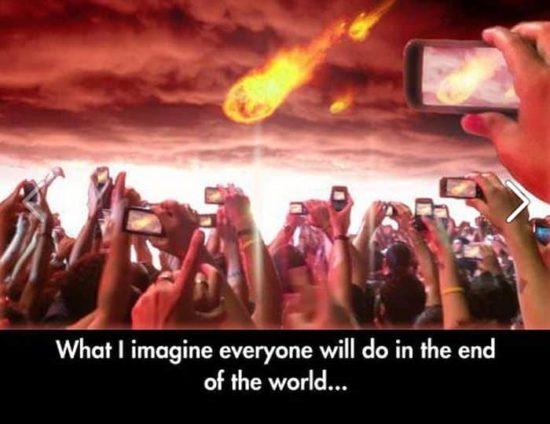 Ce que je pense tout le monde va faire à la fin du monde