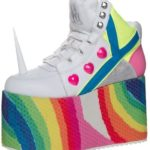 Unicorn Sneaker with Rainbow platform sole