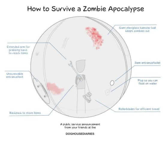 Wie man die Zombie-Apokalypse überlebt