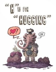 H is for Hugging
