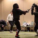 Lang zwaard strijd als een moderne krijgskunst