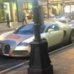 Pene en un casi 2 Acreedores Mio Euro Bugatti Veyron gemalt
