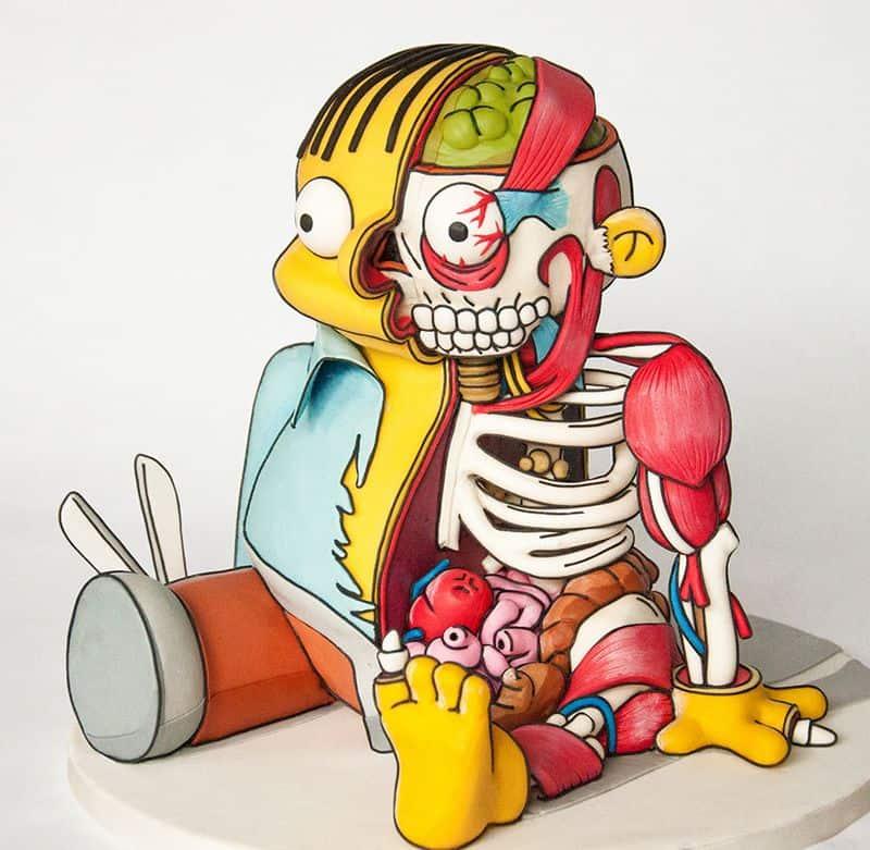 Ralph wiggum aus die simpsons als gruselige torte - Simpson ralph ...