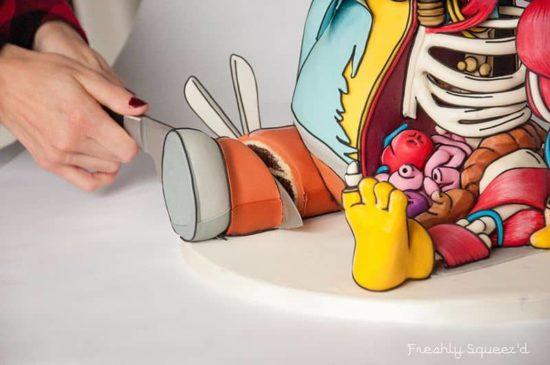 "Ralph Wiggum aus ""Die Simpsons"" als grava todo Torte"