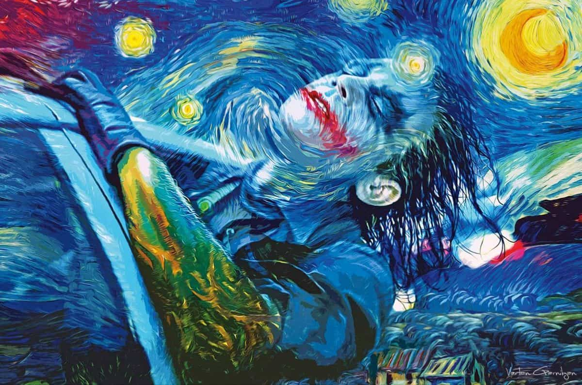 joker in van gogh 39 s sternennacht dravens tales from the crypt. Black Bedroom Furniture Sets. Home Design Ideas
