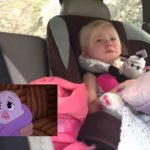 Little girl is overwhelmed when Chipmunk Adventure of emotions