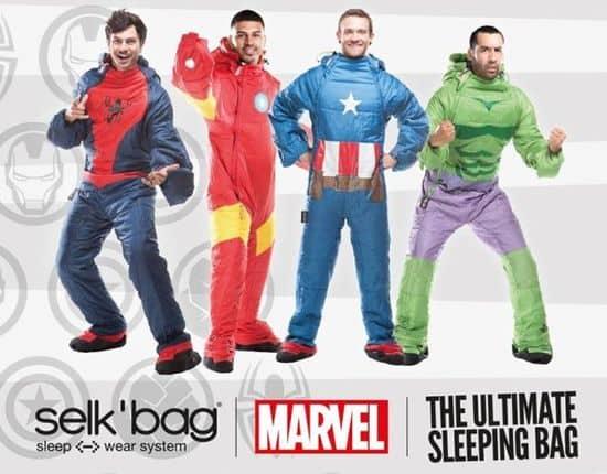 Marvel's Superhelden als tragbare Schlafsäcke