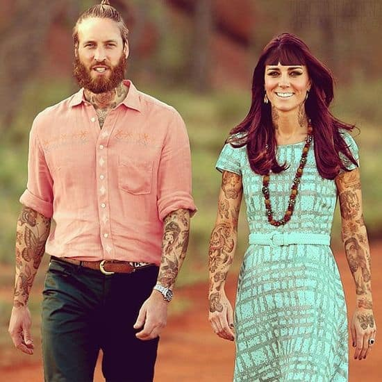 Artists tattooed celebrities with Photoshop