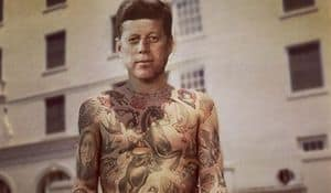 Photoshop ile sanatçı dövmeli ünlüler