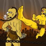 Jean-Claude Van Damme kickboxer Simpsonized