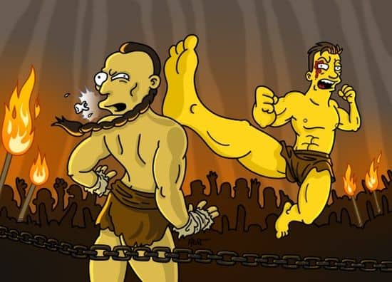 Jean-Claude Van Damme in Kickboxer Simpsonized