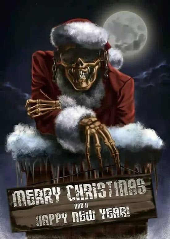 megadeth christmas cards dravens tales from the crypt. Black Bedroom Furniture Sets. Home Design Ideas
