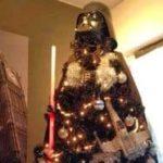 """Un árbol de Navidad de la """"El lado oscuro"""""""