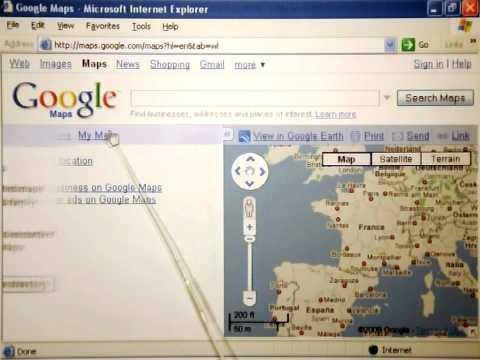 Google Maps aus Papier und Schere