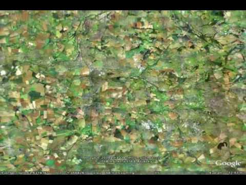 Kornkreise mit Google Earth (Stand März 2008)