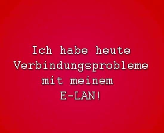 Monday: Problems with the E-LAN