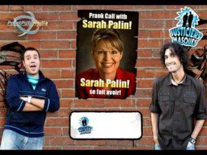 Sarah Palin habla con el presidente Sarkozy