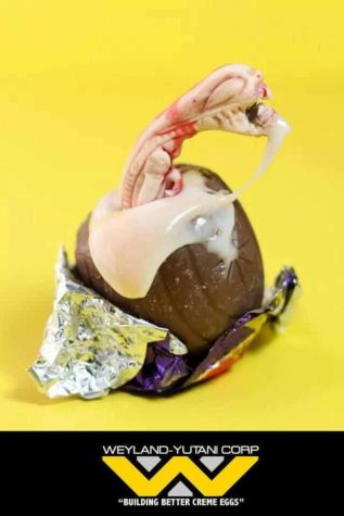 Chestburster ovo de chocolate