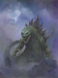 Godzilla door Frank Cho