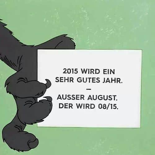 Prognose für das Jahr 2015