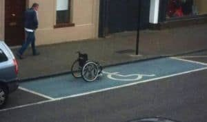 For nylig på handicapparkering
