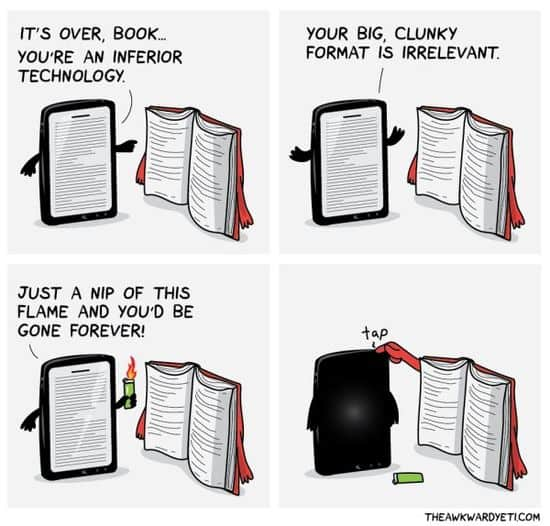 Livres vs. E-Readers