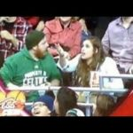 Kiss Cam Fail: If the mobile phone is more important than the girlfriend