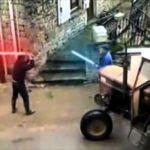 Old Men Lightsaber Duel