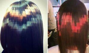 Pixel als Haarfarbe