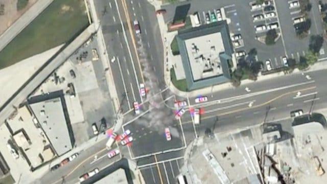 Satellite Car Chase