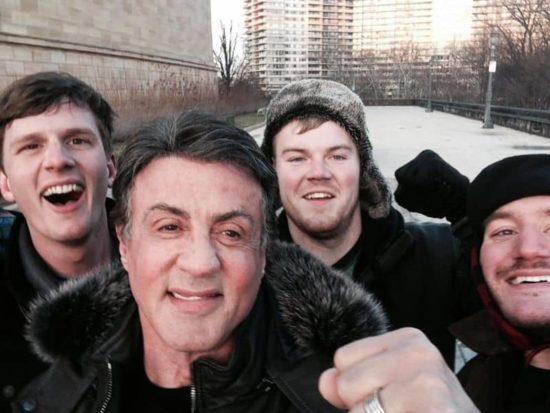 """Touristen treffen Stallone während sie """"Rocky"""" grać w Filadelfii"""
