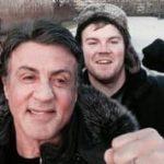 """Touristen treffen Stallone während sie """"Rocky"""" spille i Philadelphia"""
