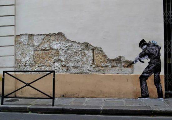 Arte de la calle de Levalet