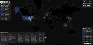 Live-Visualisierung von Cyberattacken