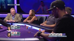 Poker-Bluff von Miss Finnland